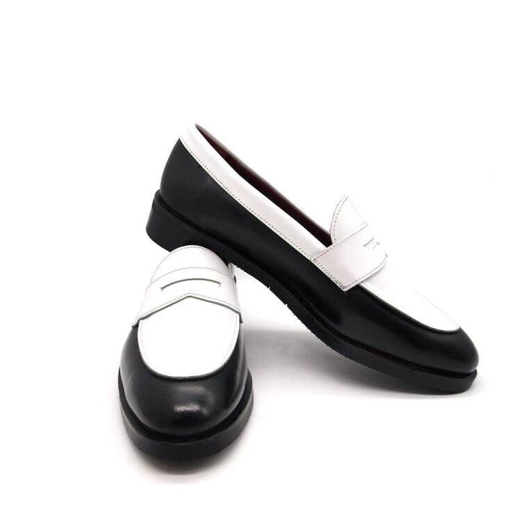 Two-Toned Penny loafers for women Beatnik Irma Black & White