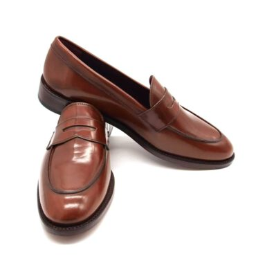 Brown Penny Loafers Beatnik Irma Chesnut