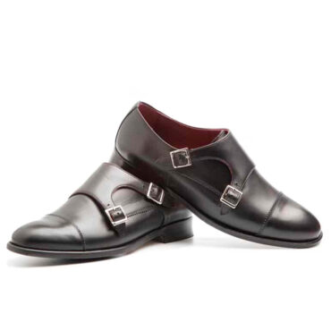 Black Monk Strap Shoes for women Beatnik June Black